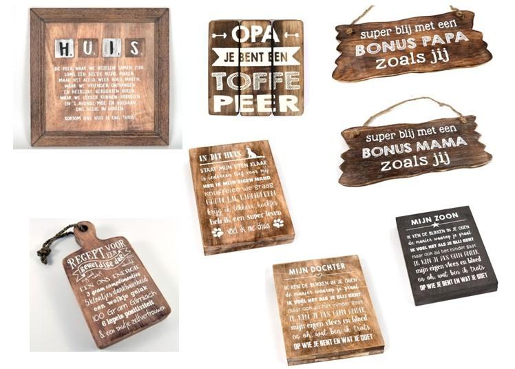 Woodart tekstborden