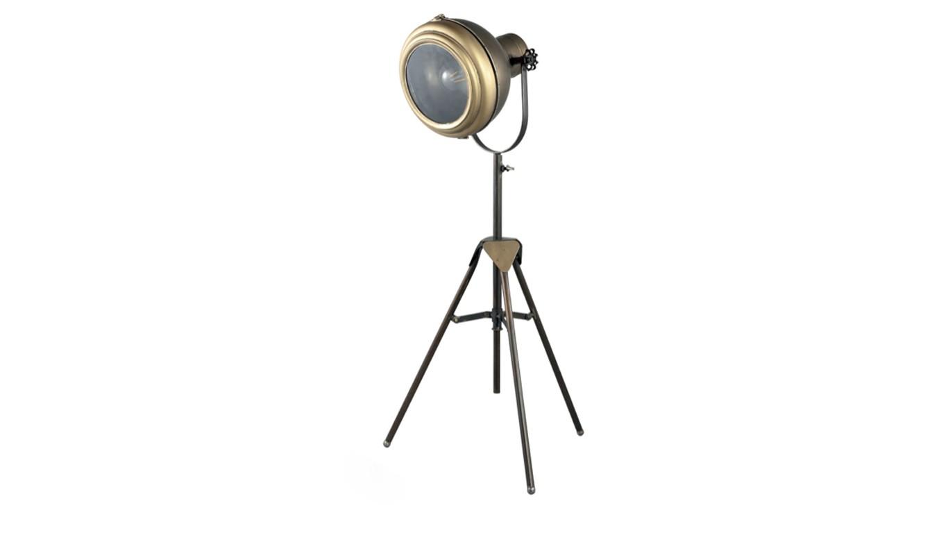 Metalen vloer lamp
