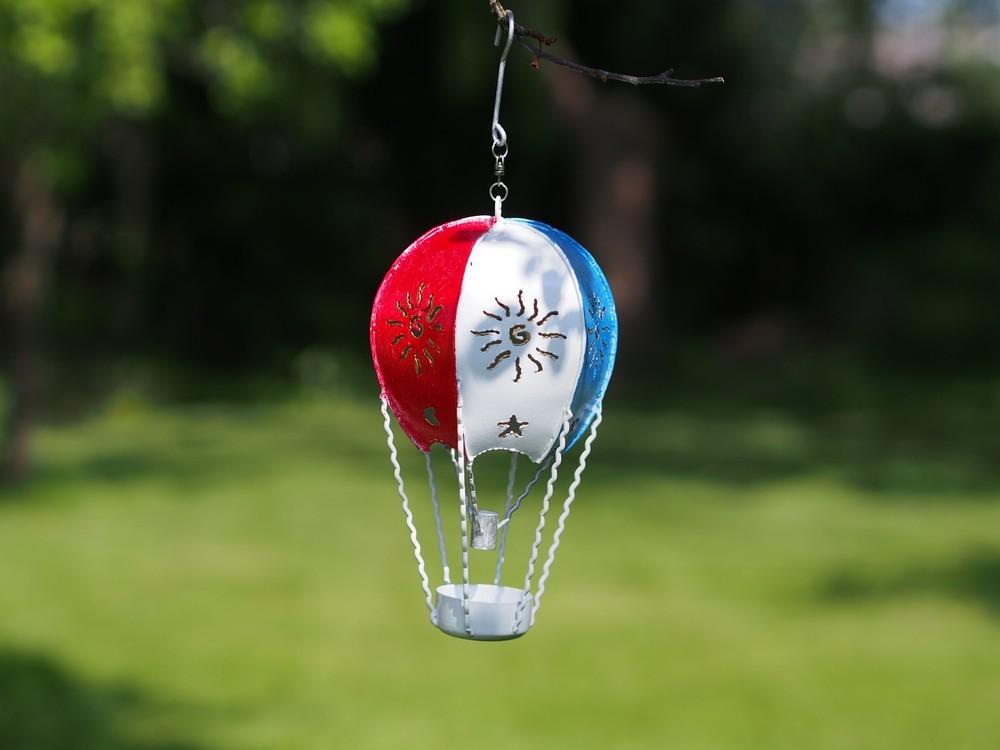 Parachute rood wit en blauw