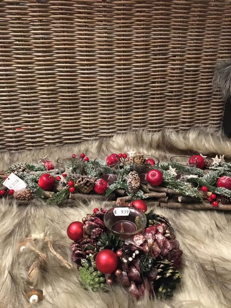 Kerststuk groot en klein